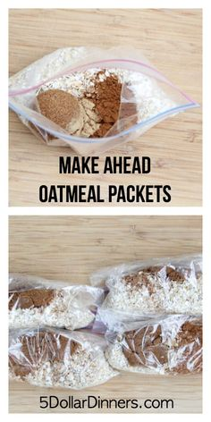 Healthy Make Ahead Breakfasts
