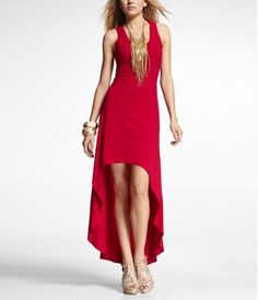HI-LO HEM KNIT MAXI DRESS at Express- tried this on today and loved it, now just gotta wait for it to go on sale!