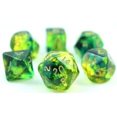 Firefly Dice (Green and Blue) RPG Role Playing Game Dice Set