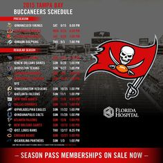 #Bucs kick off the 2015 Regular Season at home vs the Tennessee #Titans. #NFLSchedule
