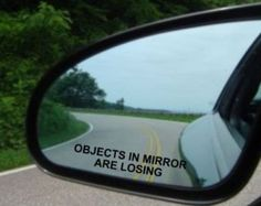 2x Objects in Mirror Are...