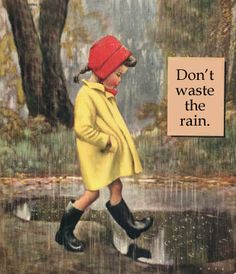 Don't Waste the Rain; God allows us to go through periods of hardship to draw us closer to him. Don't waste the rain!