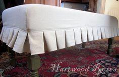 Hartwood Roses: Slipcovered Upholstered Bench