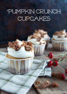 Pumpkin Crunch Cupcakes