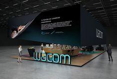 Wacom exhibition stand design     GM Stand Design