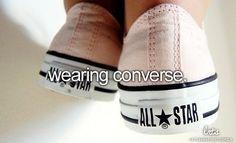 Wearing Converse