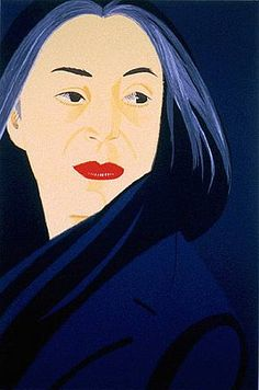 by Alex Katz.  Alex Katz (born July 24, 1927) is an American figurative artist associated with the Pop art movement. In particular, he is known for his paintings, sculptures, and prints and is represented by numerous galleries internationally.
