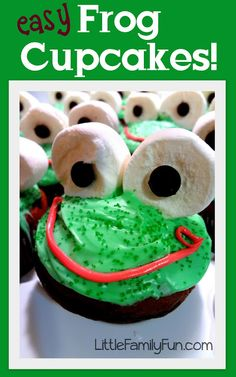 Easy Frog Cupcakes