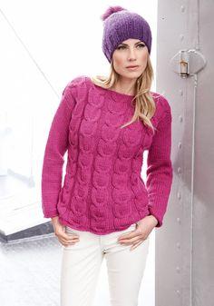 Lana Grossa PULLI MIT ZOPFMUSTER Alta Moda Cashmere - FILATI No. 48 (Herbst/Winter 2014/15) - Modell 36  | FILATI.cc WebShop