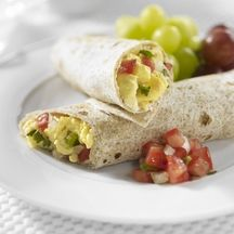 Weight Watchers Egg Beater breakfast wrap = 4 pts