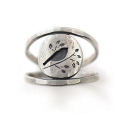 Summer Songbird Ring, Ring handmade by Beth Millner Jewelry