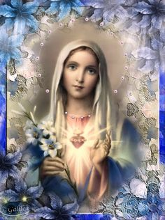 Santa María, Madre de Dios y Madre nuestra: Día 31: Temer ¿a qué? Divine Mother, Blessed Mother Mary, Blessed Virgin Mary, Madonna, Hail Holy Queen, Hail Mary, Catholic Saints, Catholic Art, Santa Maria