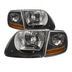 Product Ford Lightning SVT Harley Black Headlights Headlamps 4 Pc SetDescription:Upgrade Your 1997 - 2003 (Built After Or Or Your Expedition, To Look Like A Lightning, This Is A Brand New 4 Piece Black Set Of Two Lightning Headlight s, And 2 H Black Headlights, Halogen Headlights, Big Trucks, Ford Trucks, Ford Explorer Accessories, Harley Davidson Store, Ford Obs, Performance Engines, Ford