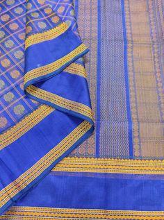 Blue Kanchi Silk Cotton 1000 Butaa With Running Blouse Whatsapp Messenger, Cotton Silk, Running, Blouse, Fashion, Moda, La Mode, Blouses, Fasion