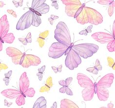 80155# 4 stretch way polyester /spandex matt watercolor butterfly fabric print , Support Custom Print,Price sold by Yard