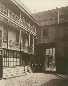 Queen's Head Inn yard, Southwark, 1881. This photograph was commissioned by the Society for Photographing Relics of Old London to form part ...