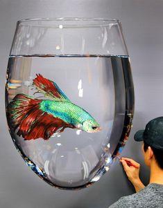The Sun^^ #김영성 #극사실 #하이퍼리얼리즘 #달팽이 #물고기 #미술관 #극사실주의 #개구리 #현대미술 #YoungsungKim #ykim #Hyperrealism #modernart #oil #painting #drawing #contemporaryart #art #handpainted #environment #frog #snail #insect #goldfish #animal #sculpture #museum #interview #news #thesun