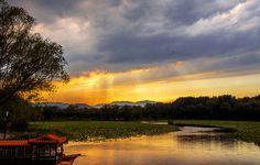 Beijing Yuanmingyuan sunset!