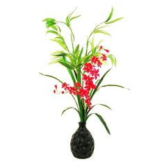 Designs by Lauren Artificial Orchids and Lucky Bamboo Arrangement, Multicolor