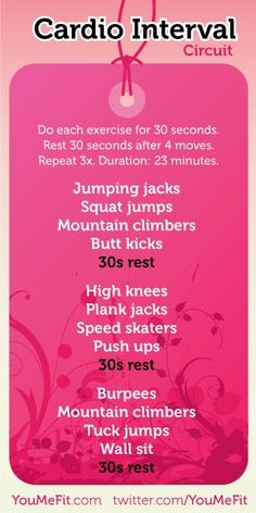 Cardio Interval Circuit ... I'm going to try ...