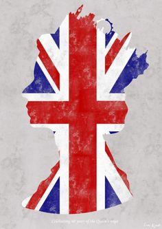 Queen Union Jack Silouette
