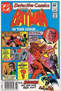 Vintage Batman Comic Book June 1982 No 515 DC Comics Inc Plus Batgirl