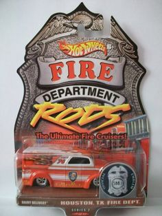 Hot Wheels Fire Department Rods Dairy Delivery 1:64 Scale Collectible Die Cast Car Hot Wheels