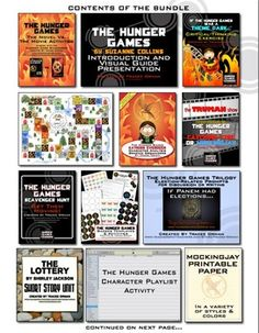 Add-ons for teaching The Hunger Games - bundled for a huge discount.