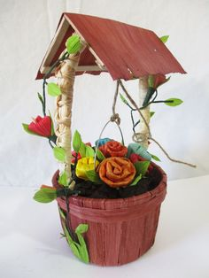 Water well idea made with corn husk