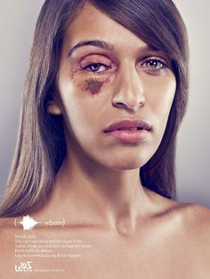 Domestic Violence poster campaign emphasising the effects of emotional abuse and verbal abuse and doing nothing to stop it.