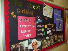 Bulletin boards for the novel you're reading as a class. Love it!