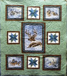 A stunning quilt made by Sandy Brett.