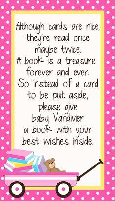 Custom Insert Card Bring a book instead of a Card by DigitalParty