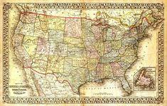 Τα κράτη της Βόρειας Αμερικής States And Capitals, United States Map, My Little Kids, Map Canvas, Old Maps, Us Map, Vintage Maps, State Map, Historical Maps