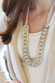 DIY: Washer & Ribbon Necklace. YW activity?