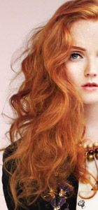 lily cole. red. I am dying my hair this color as soon as I am back in the states.