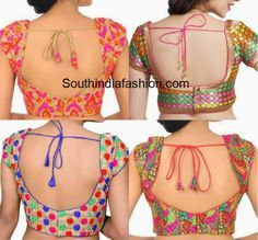 must_have_saree_blouse_designs_multi_color_blouse.jpg (600×559)