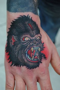Read Complete Colorful Gorilla Face Tattoo On Hand Knee Tattoo, Elbow Tattoos, Face Tattoos, S Tattoo, Tattoo Flash, Tattoo Shop, Sleeve Tattoos, Tribal Butterfly, Butterfly Dragon