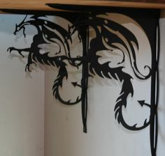 Dragon Shelf Brackets- OMG I want these for my living room, like I could ever…