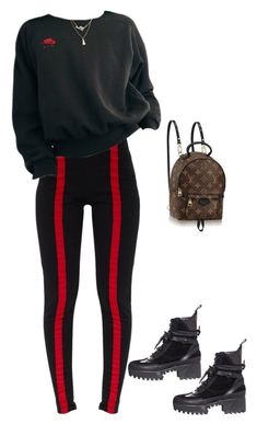 """got u this rose"" by briannamazzola ❤ liked on Polyvore featuring Louis Vuitton"