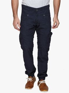 Buy 883 Police Navy Blue Solid Cargo for Men Online India, Best Prices, Reviews…