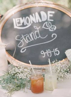 Rustic drink station sign