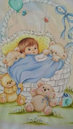 Baby Drawing, Kids Patterns, Baby Art, New Art, Teddy Bear, Embroidery, Toys, Drawings, Cards