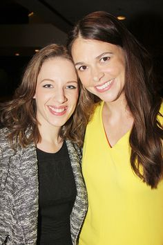 Beautiful's Jessie Mueller and Violet star Sutton Foster. | Stars From Bullets, Hedwig, Aladdin & More Toast Susan Stroman at the New Dramatists Luncheon