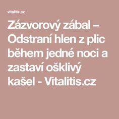 Zázvorový zábal – Odstraní hlen z plic během jedné noci a zastaví ošklivý kašel - Vitalitis.cz