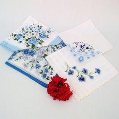 Vintage Ladies Hankies Womens Handkerchiefs Hankies by WhimzyThyme, $19.95