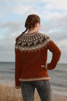 Knitting Patterns Free, Free Knitting, Free Pattern, Icelandic Sweaters, Fair Isle Pattern, Warm Outfits, Knitwear, Knit Crochet, Men Sweater