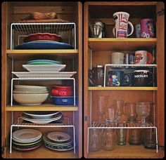 Kitchen cabinet organizer on pinterest cabinet for Additional shelves for kitchen cabinets