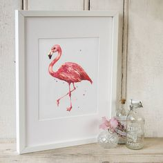 Personalised 'Flamboyant Florence' Art Print