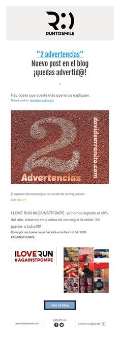 """""""2 advertencias""""  Nuevo post en el blog  ¡quedas advertid@!"""